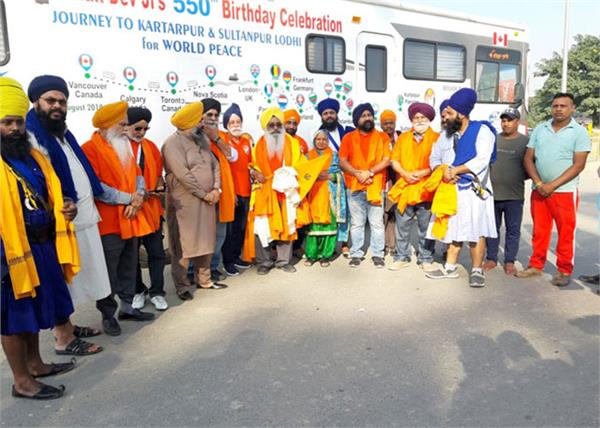special bus arriving from canada arrives in india