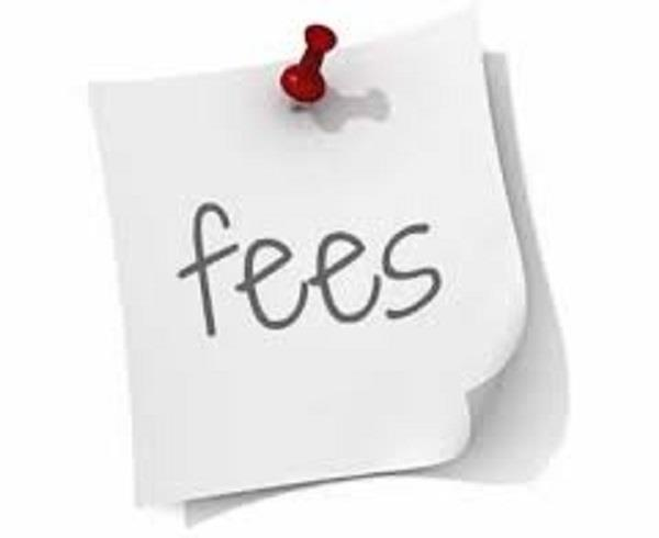 5th and 8th class  exam fee  registration fee