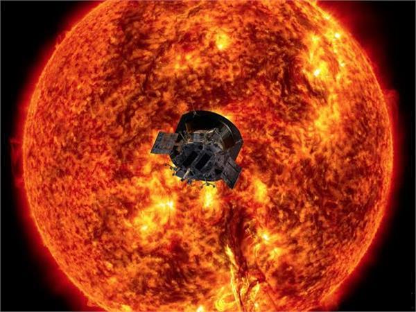sun field data sent by the spacecraft