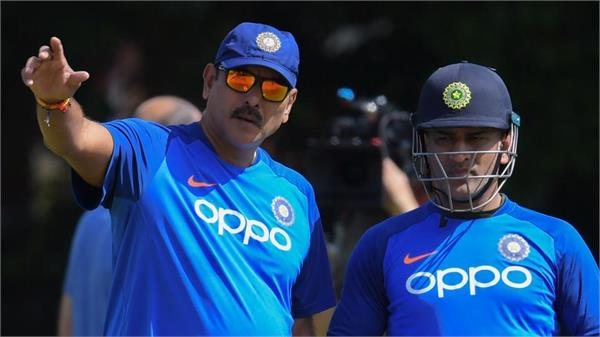 dhoni will never find himself on the team  shastri