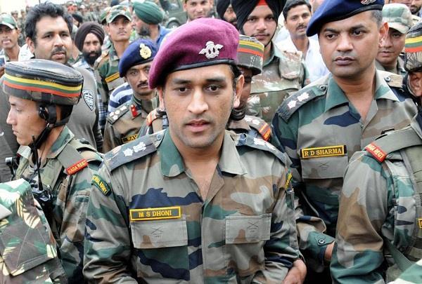 mahendra singh dhoni  patriotic  brave soldiers