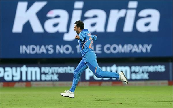 kuldeep became indias first bowler to take two hat tricks in odis