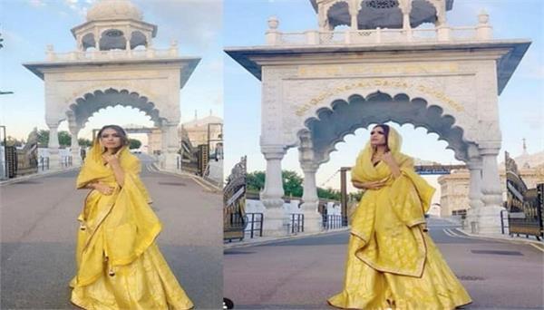 neha malik visits london guru nanak darbar gurdwara