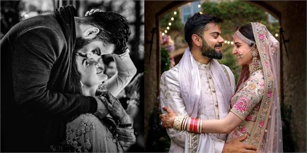 virat kohli and anushka sharma wish each other happy 2nd wedding anniversary