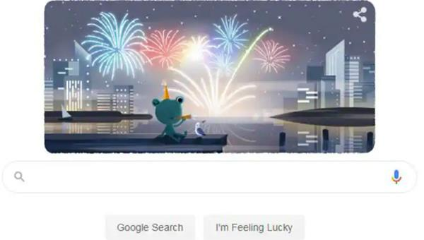 new year eve 2019 google doodle