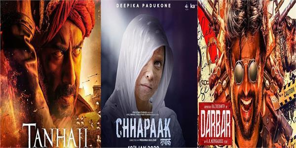 five big films will release in january box office chhapaak panga tanhaji