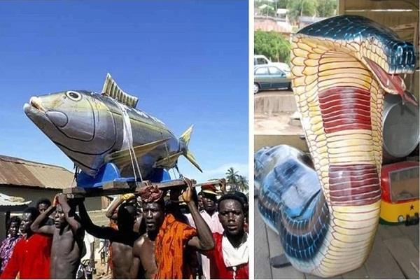 ghana  strange coffin