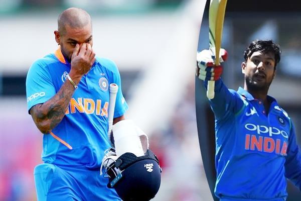 mayank agarwal can replace injured shikhar dhawan for odi series