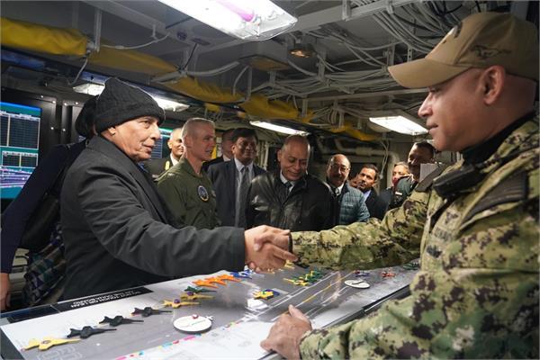 rajnath singh visits us naval air station