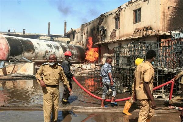 sudan factory explosion kills 24