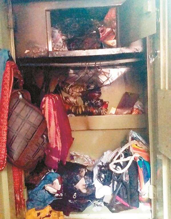 looted jewelery and cash stolen from home