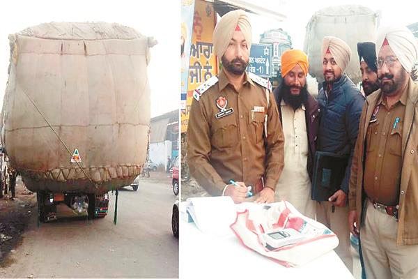 traffic police cut over 20 overloaded vehicles