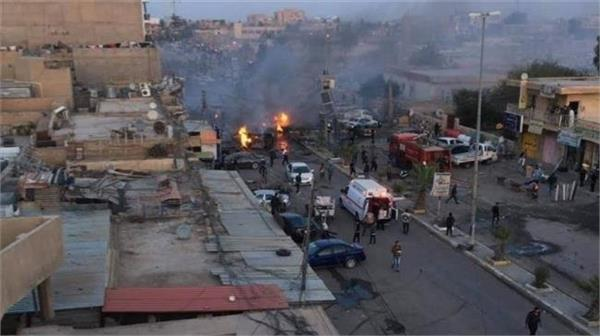 car bomb blast in iraq  two dead  five injured