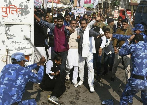rlsp rally lathi charge injured upendra kushwaha
