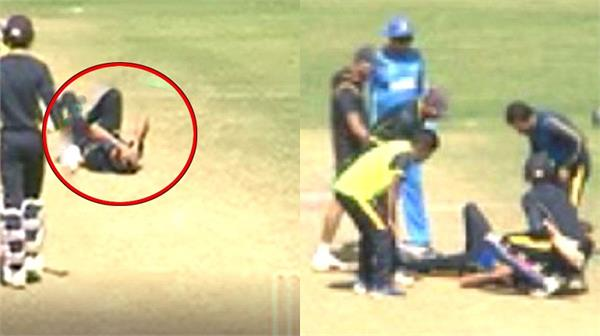 dinda  s head injury during the practice match
