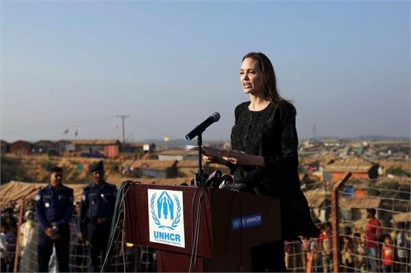 jolie demands myanmar   commitment   to end anti rohingya violence