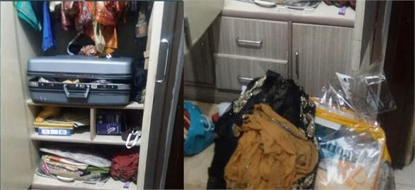 gold ornaments and cash theft from hmv college  s associate professor  s house