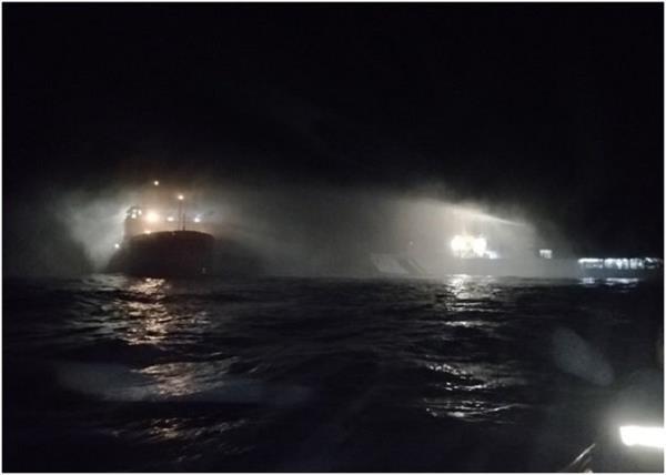 indian coast guard ship fire