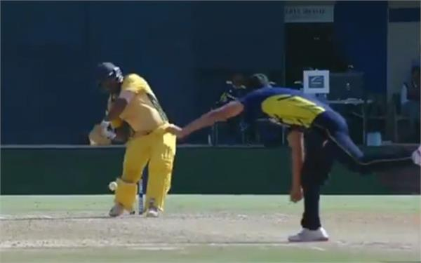 nikhil naik sets the stage ablaze with five consecutive sixes
