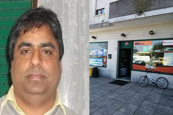 in italy  the thieves escaped with a stolen bag from a indian shopkeeper