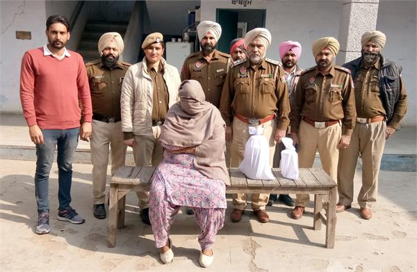 women  gold ornaments recovered