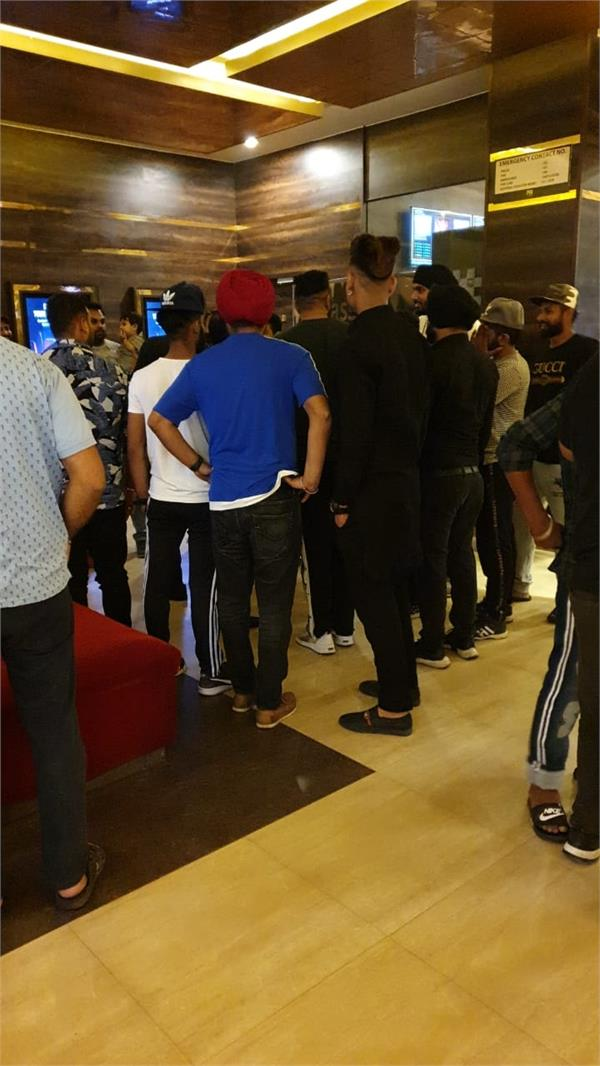 pvr during the cinema the film was played in two parties for the whistle