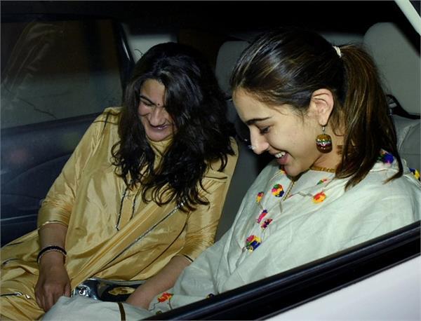 sara ali khan mom amrita singh spotted at abu jani birthday party
