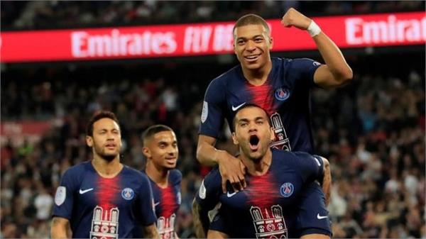psg 8th time league 1 champion with mbappe hat trick