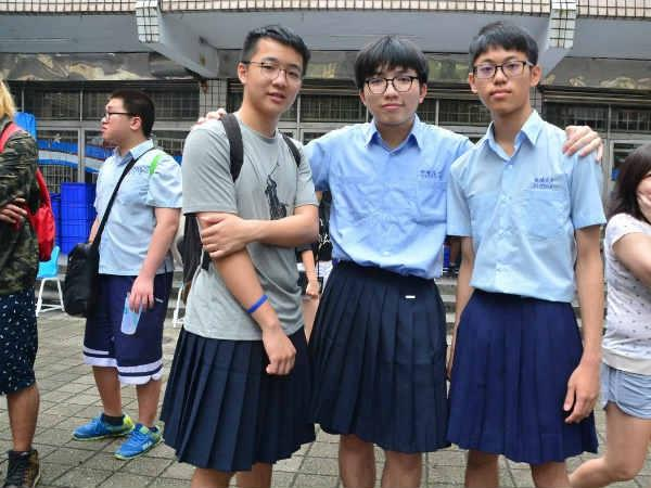 men in taiwan are wearing skirts this week to lobby for marriage equality