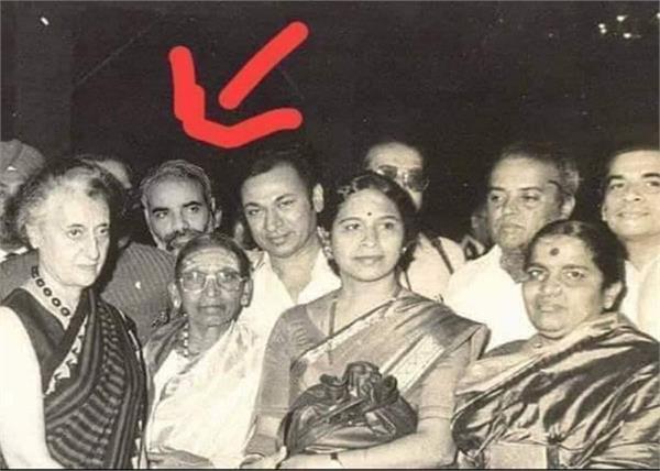 pm modi with indira gandhi in this photo