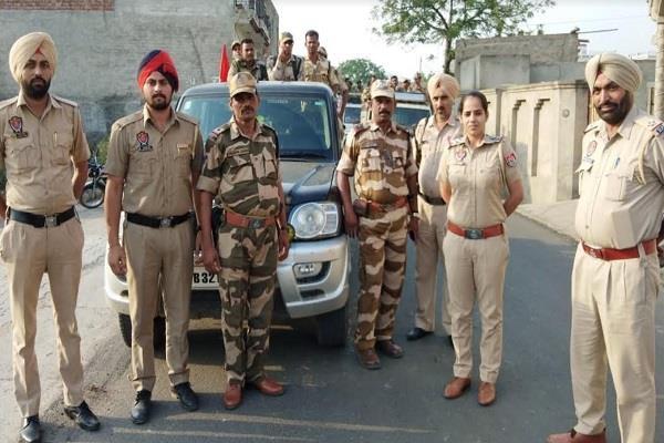 bhawanigarh  police  flag march