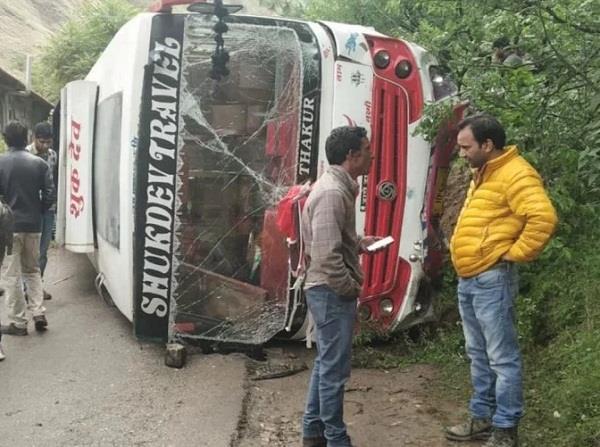 bus accident in kullu bjp workers injured