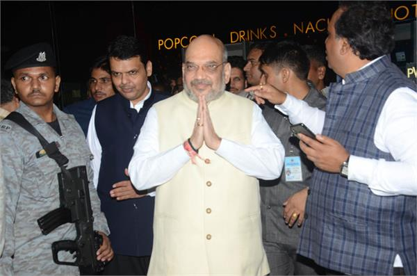 amit shah called nda supporters for dinner