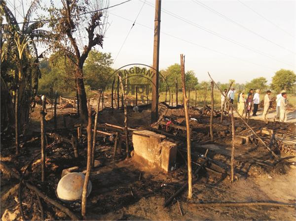 two innocent children burnt alive due to fire in a slum