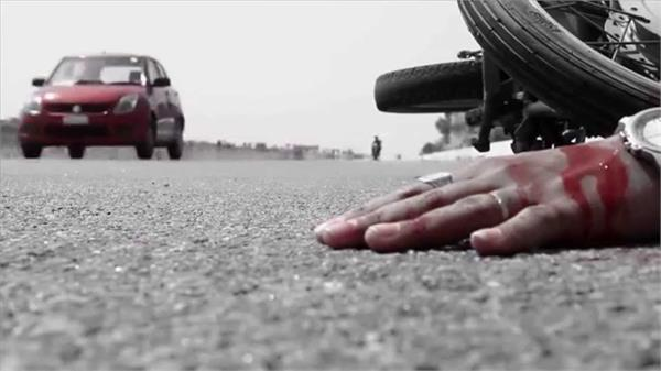 unidentified vehicle rides a motorcycle death