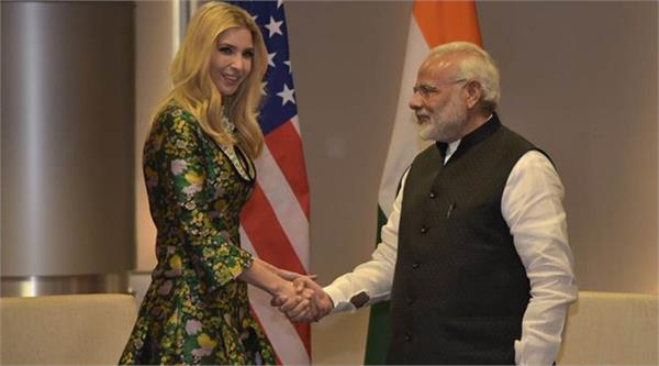 daughter ivanka greeted modi after trump