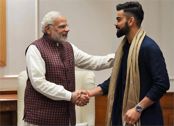 virat sachin congratulates prime minister modi