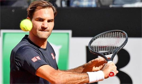 in the third round of federer italian open