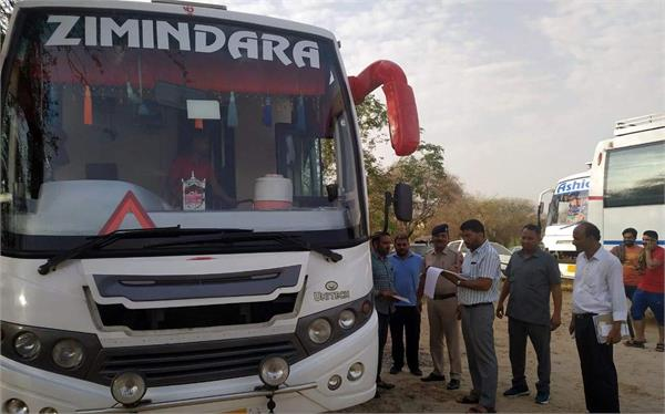 seven buses seized without permission