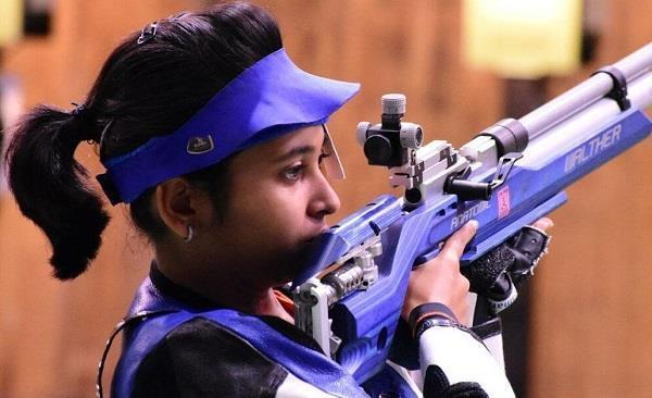 mayhuoli 10m rifle and chinkie 25 m won the pistol