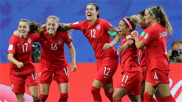 in the second round of canada women  s world cup by defeating new zealand