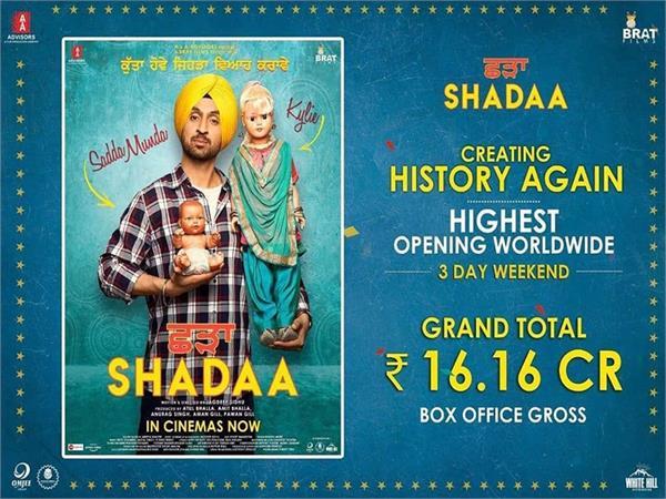 shadaa movie 3 days worldwide collection