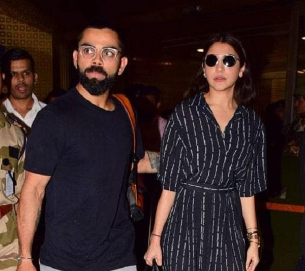 kohli returned to india after the world cup in this kind of look with anushka
