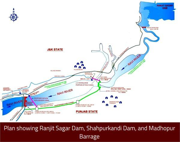 shahpur kandi dam project break