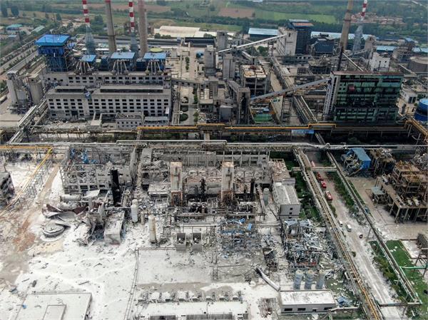 explosion at china gas factory kills 12  injures 13