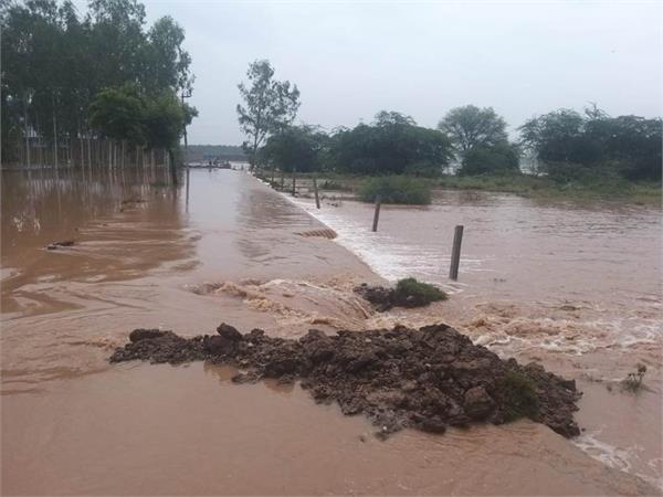 khaga ghaggar river near danger mark