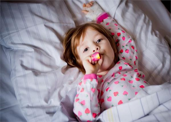 small children are bed ridden with sickness diseases