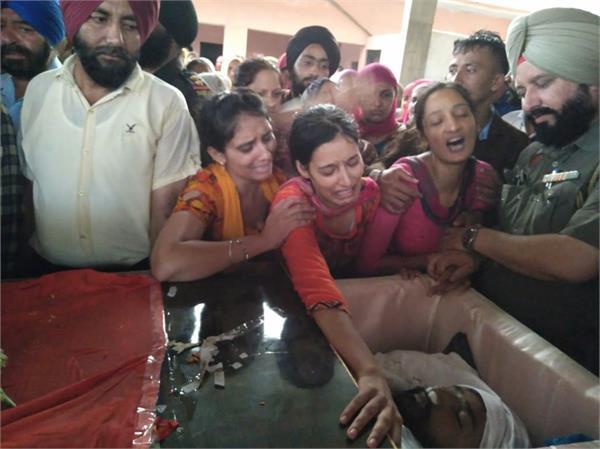 martyr gurpreet singh cremation