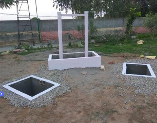 gurdaspur baba car stadium rainwater harvesting