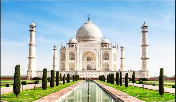 extensive repair work on taj mahal minar begins